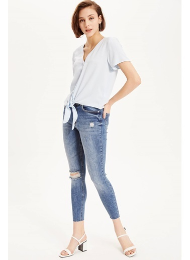 DeFacto Super Skinny Jean Pantolon Mavi